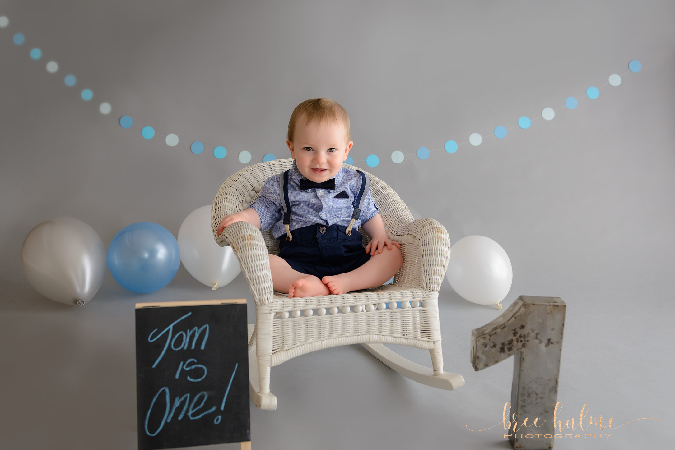 blue and grey baby boy cake smash and splash portraits for your babies 1st birthday with Bree Hulme Photography on Sydney's Northern Beaches and North Shore