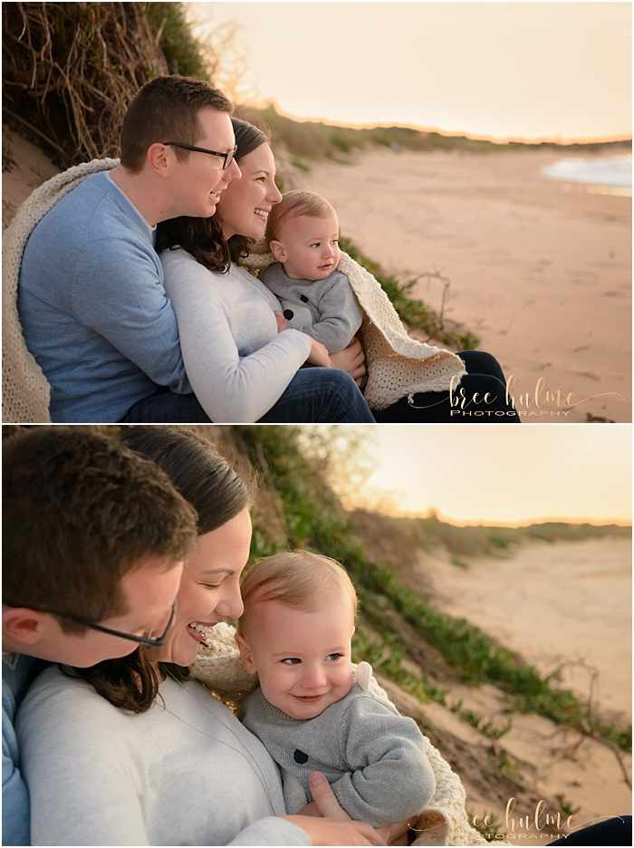 Northern Beaches family photo shoot at sunrise. Beautiful family portraits by family photographer Bree Hulme Photography