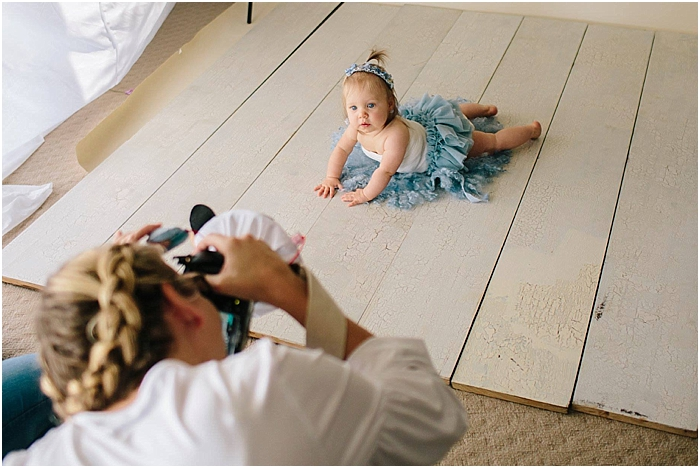 Behind the scenes sneak peek at Bree Hulme Photography Studio for a sitter session