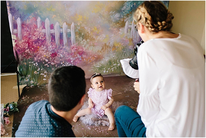 Behind the scenes of a sitter session at Bree Hulme Photography