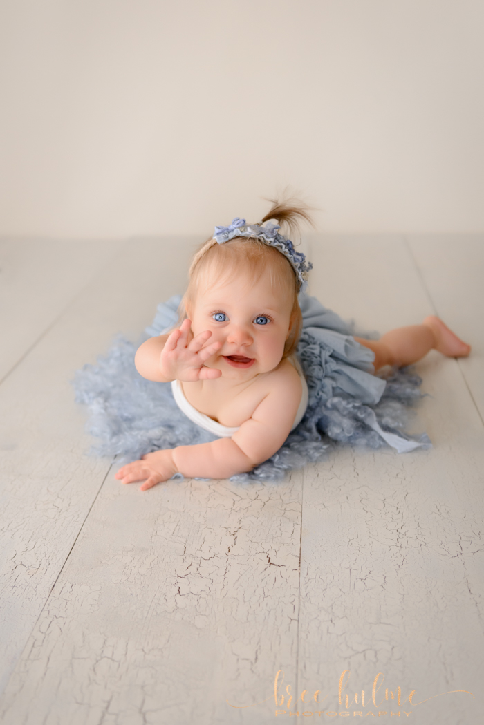 Behind the scenes comparison photos of s sitter session at Bree hulme photography