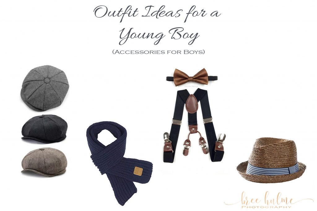 outfit ideas for little boys for family portraits by Bree Hulme photography on sydney's northern beaches accessories are key hats scarves braces bow ties glasses
