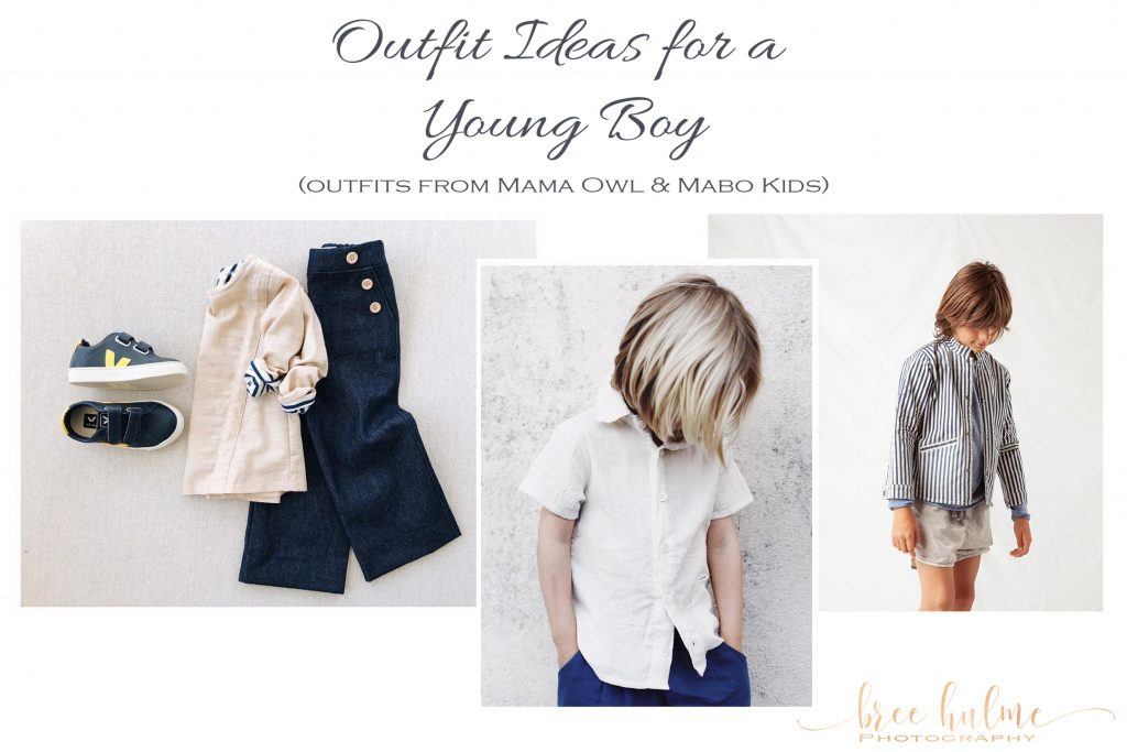 outfit ideas for little boys for family portraits by Bree Hulme photography on sydney's northern beaches outfits by mama owl and mabo kids