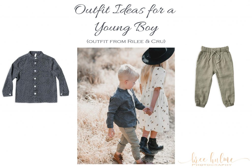 outfit ideas for little boys for family portraits by Bree Hulme photography on sydney's northern beaches  outfit by rilee and cru button down grandad shirts and chinos