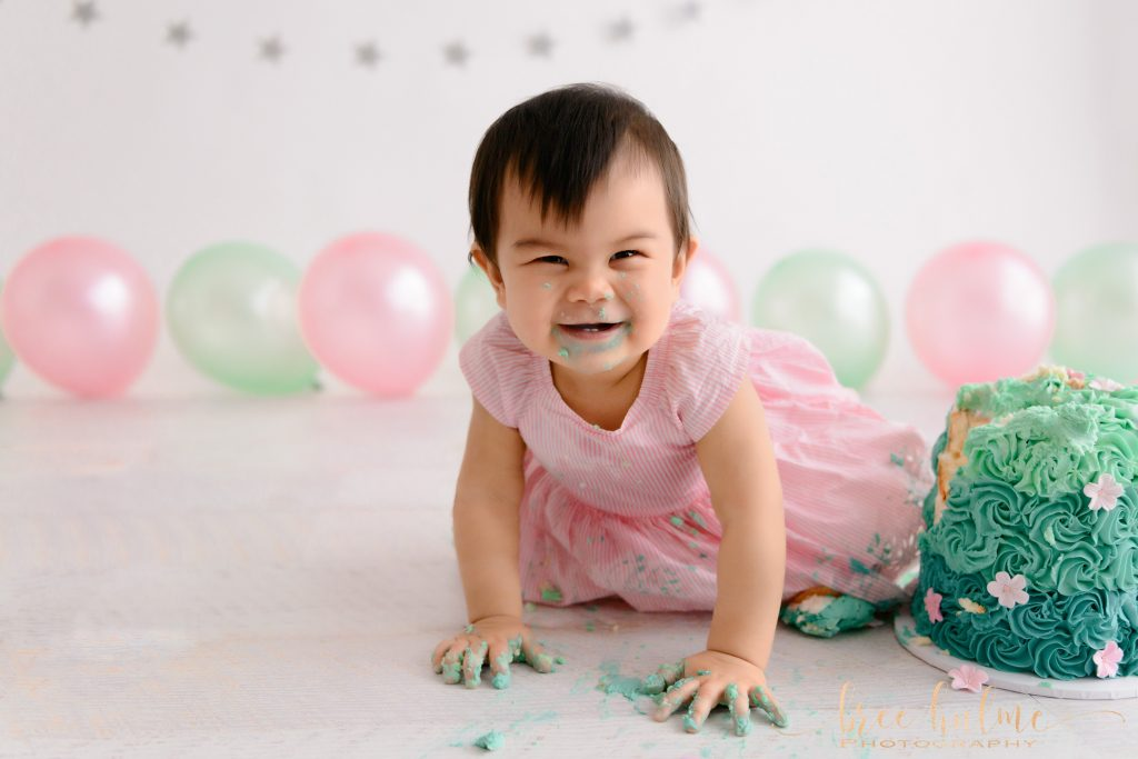 Adorable Cake Smash Portraits to celebrate a 1st birthday by Bree hulme Photography Sydney's best baby photographer