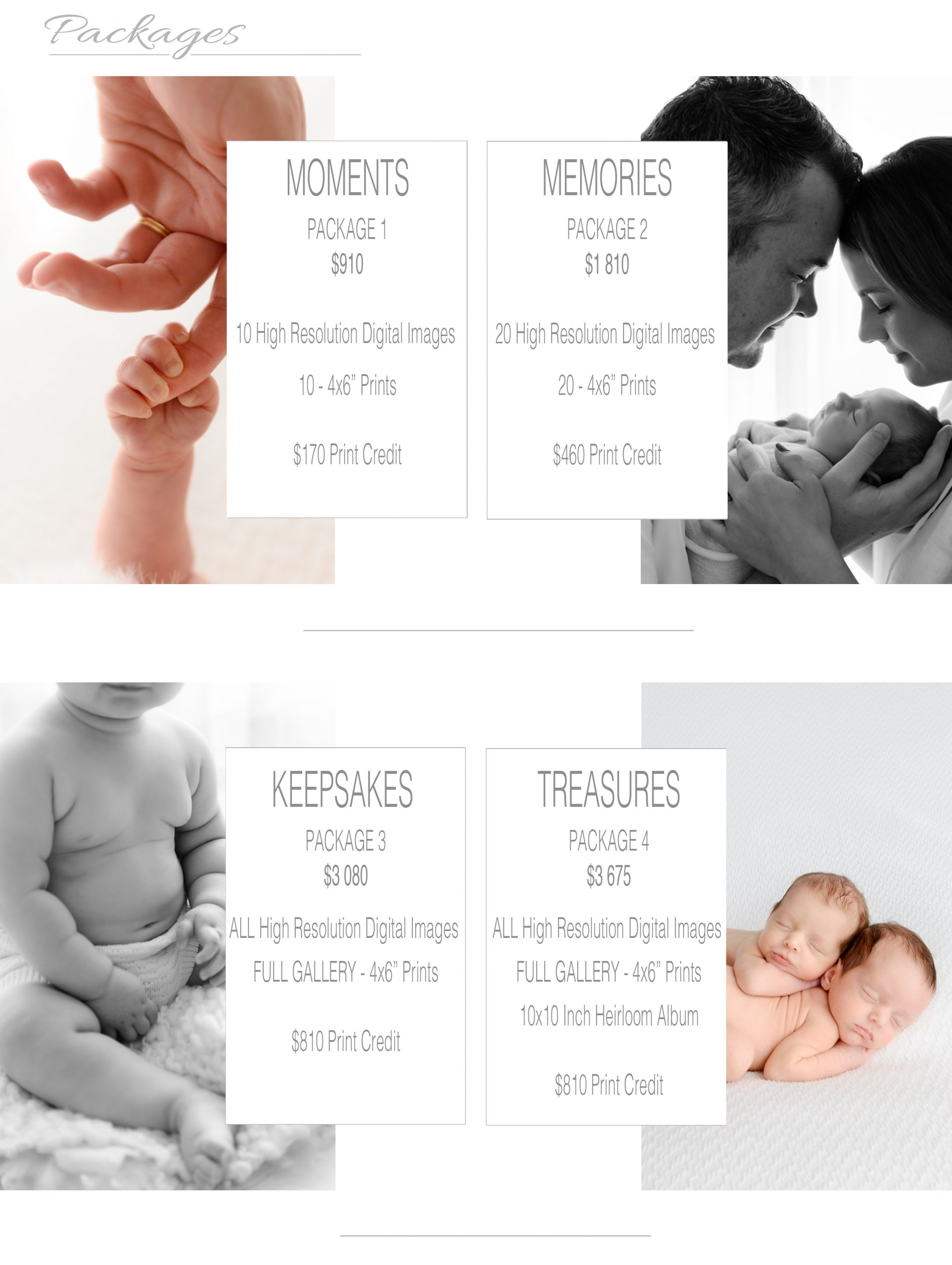 Your Investment Bree Hulme Photography price list session fees packages collections bundles Northern Beaches Family Newborn and baby photographer
